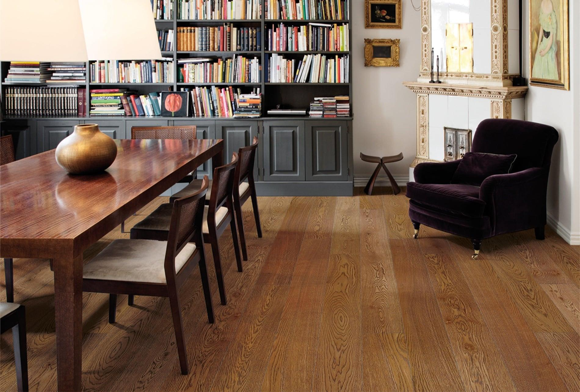 Timberwise parketti puulattia wooden floor parquet Tammi Oak Cognac_vaaka1