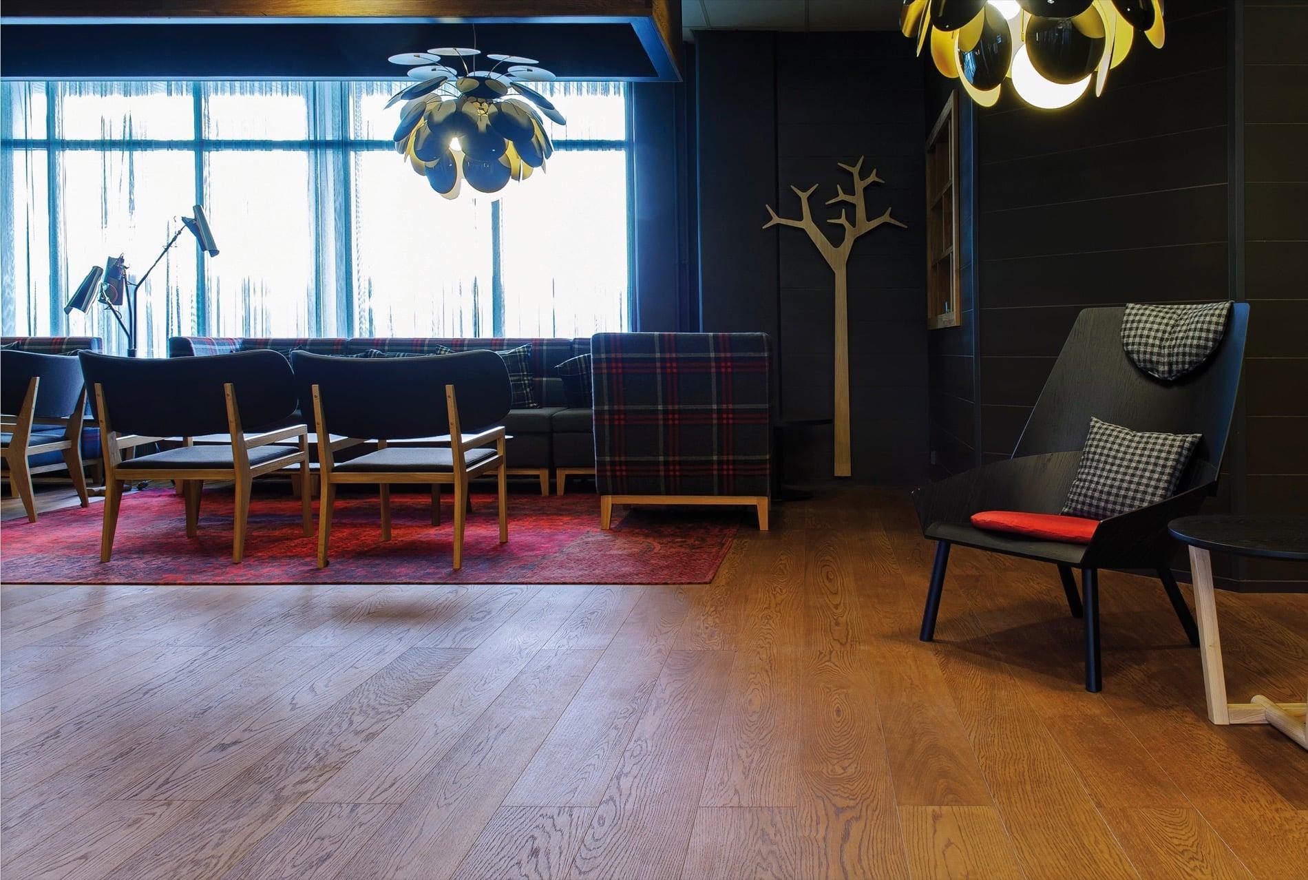 Timberwise parketti puulattia wooden floor parquet Tammi Oak Cognac_vaaka2