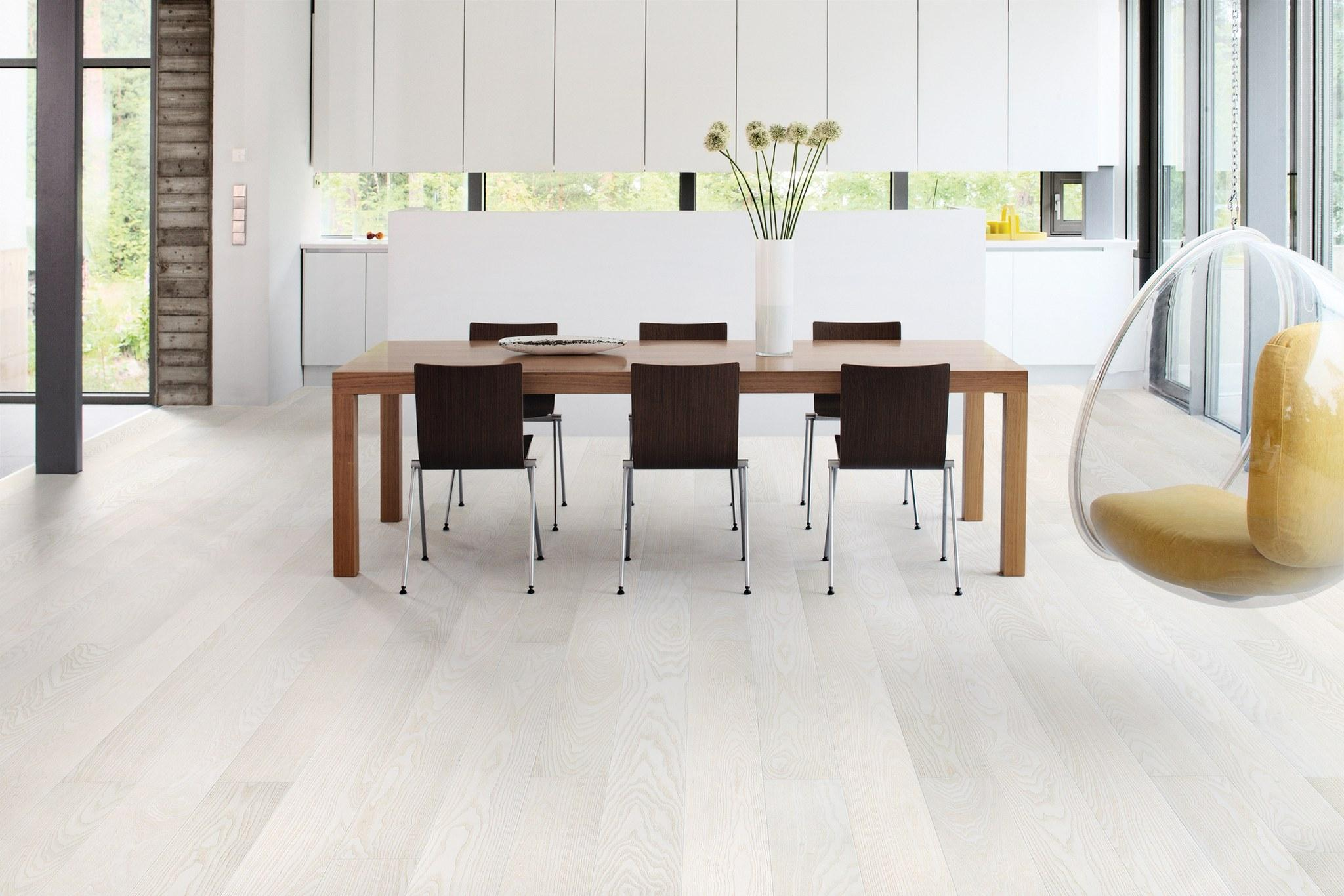 Timberwise parketti puulattia wooden floor parquet Saarni Ash Antarctis