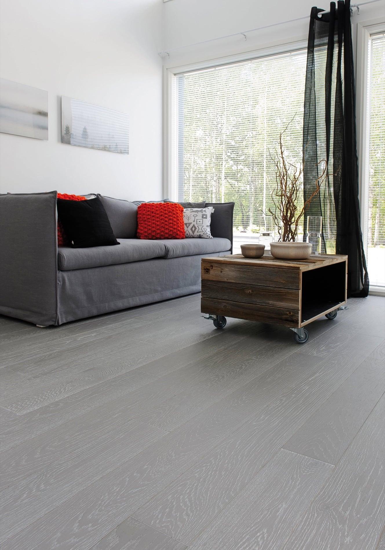 Timberwise parketti puulattia wooden floor parquet Tammi Oak Silver_pysty2