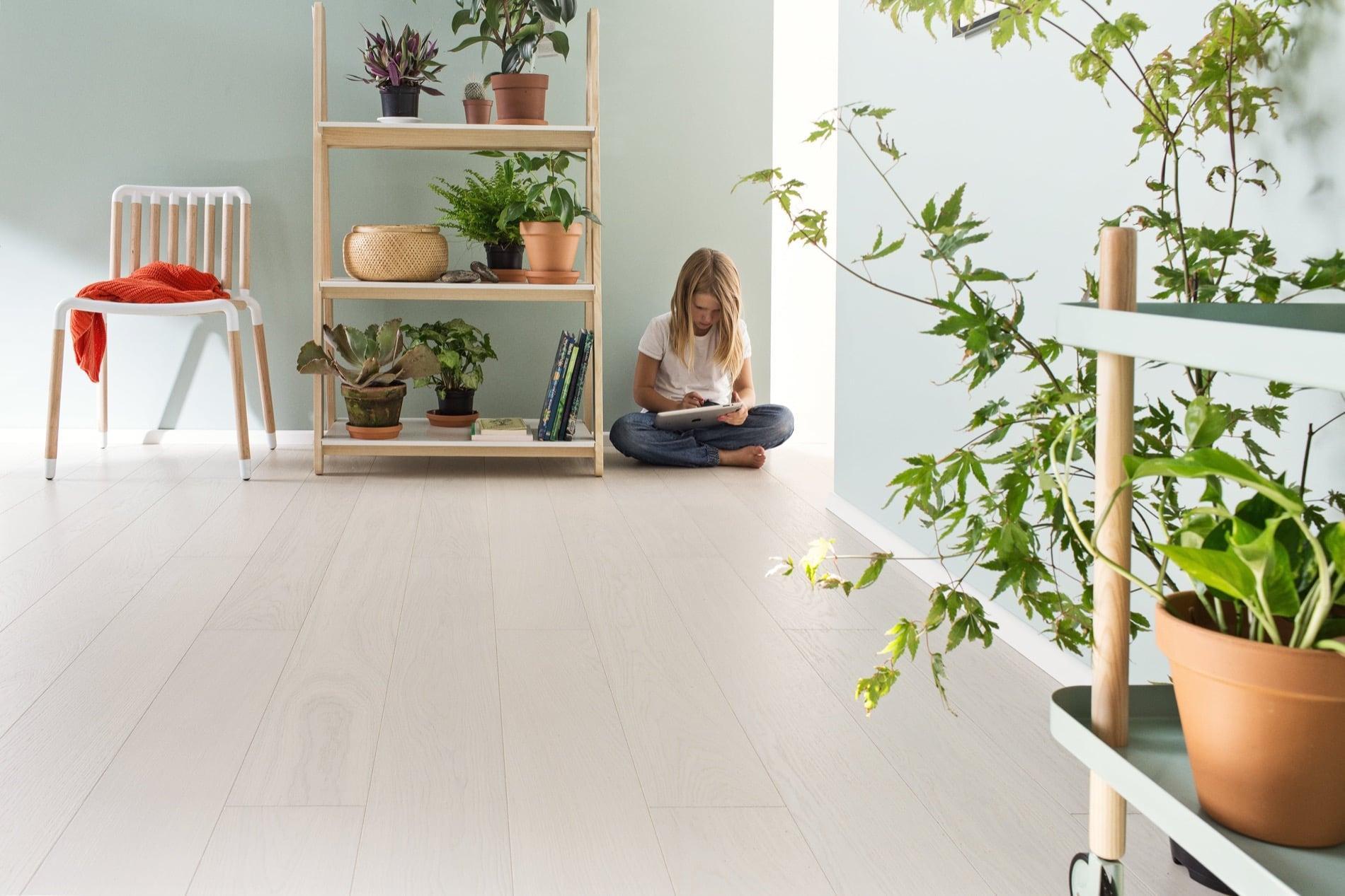 Timberwise parketti puulattia wooden floor parquet Tammi Oak White Cream_vaaka1