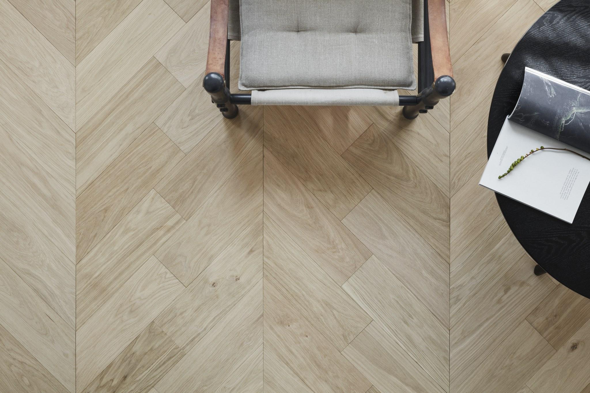 Timberwise Tammi Oak Design Floor Pala Chevron Vaaka