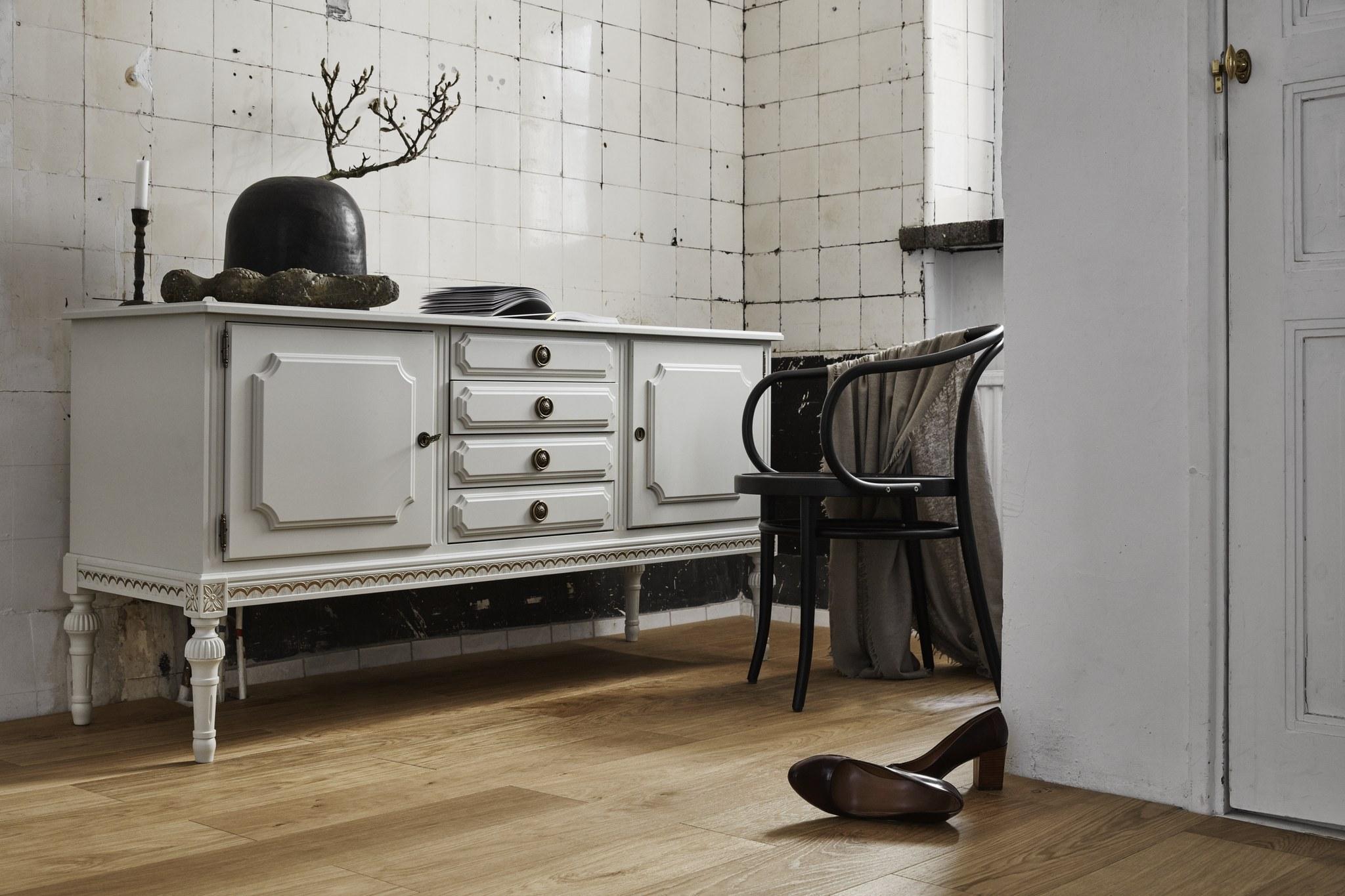 Timberwise Tammi Oak Tile Pattern 185x925mm Harjattu Brush Oljyvahattu Waxoil Vaaka